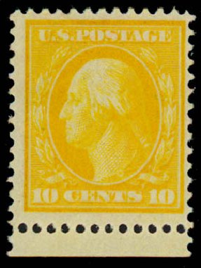 Prices of US Stamps Scott #364 - 10c 1909 Washington Bluish Paper. Daniel Kelleher Auctions, Sep 2013, Sale 639, Lot 3465