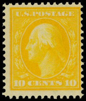 Cost of US Stamps Scott Cat. #364 - 10c 1909 Washington Bluish Paper. Daniel Kelleher Auctions, May 2014, Sale 652, Lot 545
