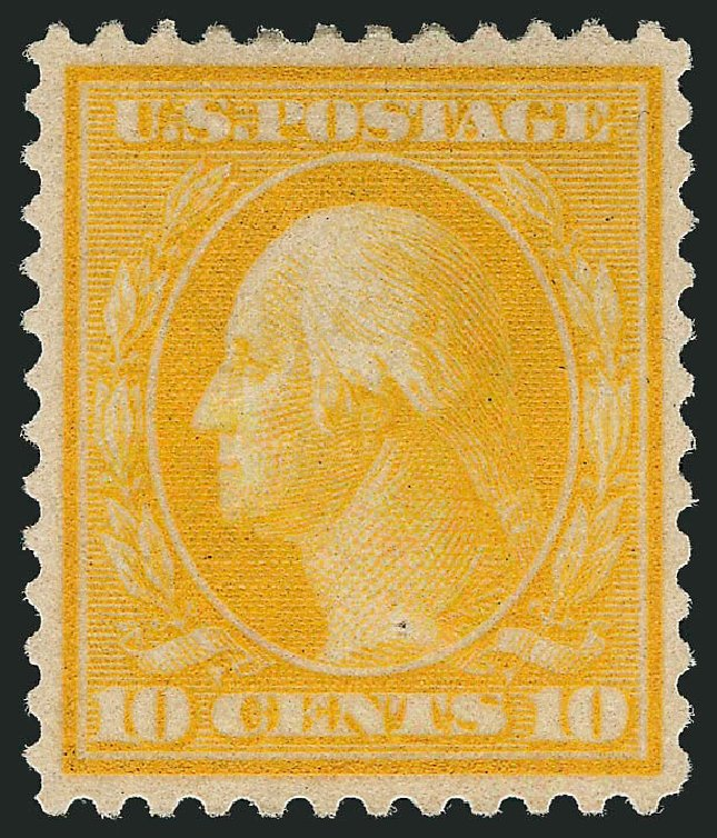 US Stamp Values Scott # 364 - 1909 10c Washington Bluish Paper. Robert Siegel Auction Galleries, Apr 2014, Sale 1068, Lot 245