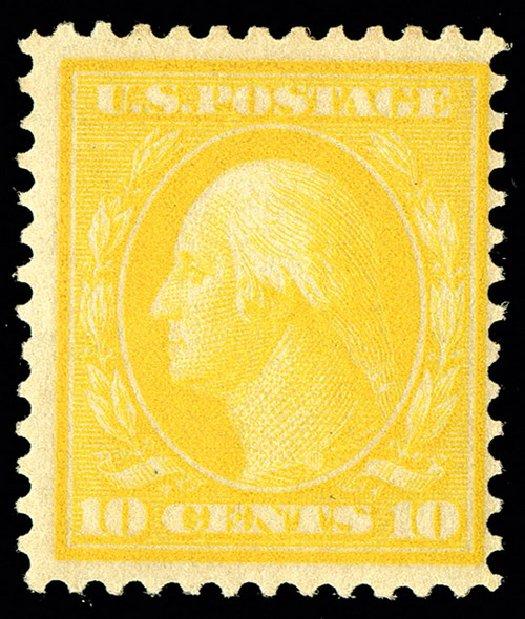 US Stamp Prices Scott # 364: 1909 10c Washington Bluish Paper. Spink Shreves Galleries, May 2014, Sale 148, Lot 275