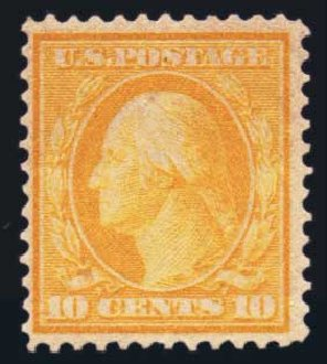 US Stamp Price Scott Cat. 364: 1909 10c Washington Bluish Paper. Harmer-Schau Auction Galleries, Aug 2014, Sale 102, Lot 1992
