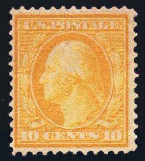 US Stamp Price Scott Cat. 364: 1909 10c Washington Bluish Paper. Harmer-Schau Auction Galleries, Aug 2014, Sale 102, Lot 1992