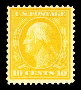 Cost of US Stamp Scott 364 - 10c 1909 Washington Bluish Paper. Cherrystone Auctions, Jul 2015, Sale 201507, Lot 2133