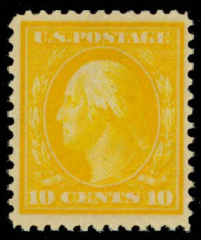 Value of US Stamps Scott 364 - 10c 1909 Washington Bluish Paper. Daniel Kelleher Auctions, Sep 2013, Sale 639, Lot 1136