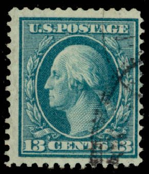 Cost of US Stamp Scott #365: 13c 1909 Washington Bluish Paper. Daniel Kelleher Auctions, Aug 2015, Sale 672, Lot 2667