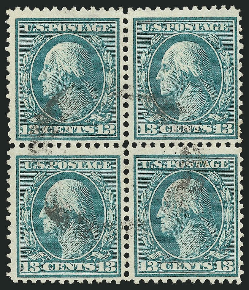 US Stamp Prices Scott Catalogue #365: 1909 13c Washington Bluish Paper. Robert Siegel Auction Galleries, Feb 2015, Sale 1093, Lot 171