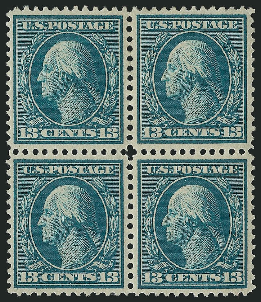 US Stamp Price Scott Catalogue #365: 1909 13c Washington Bluish Paper. Robert Siegel Auction Galleries, Apr 2015, Sale 1096, Lot 612