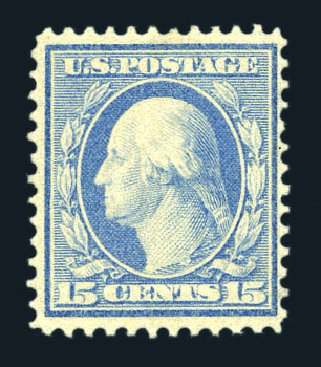 Costs of US Stamp Scott Catalog #366: 1909 15c Washington Bluish Paper. Harmer-Schau Auction Galleries, Aug 2015, Sale 106, Lot 1777