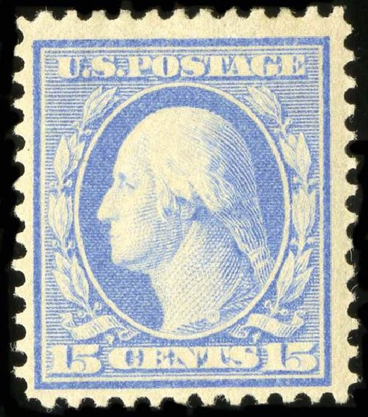 US Stamps Prices Scott Cat. # 366 - 1909 15c Washington Bluish Paper. Spink Shreves Galleries, Jul 2015, Sale 151, Lot 267