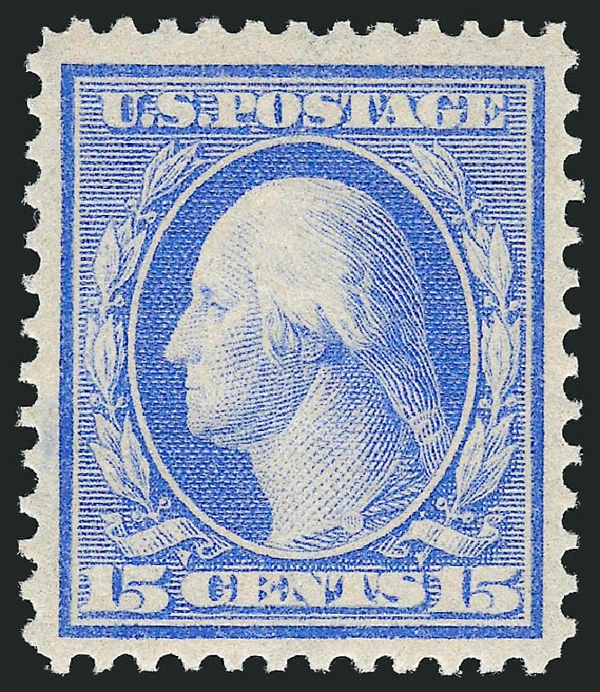Prices of US Stamps Scott Cat. # 366 - 15c 1909 Washington Bluish Paper. Robert Siegel Auction Galleries, Apr 2015, Sale 1096, Lot 614