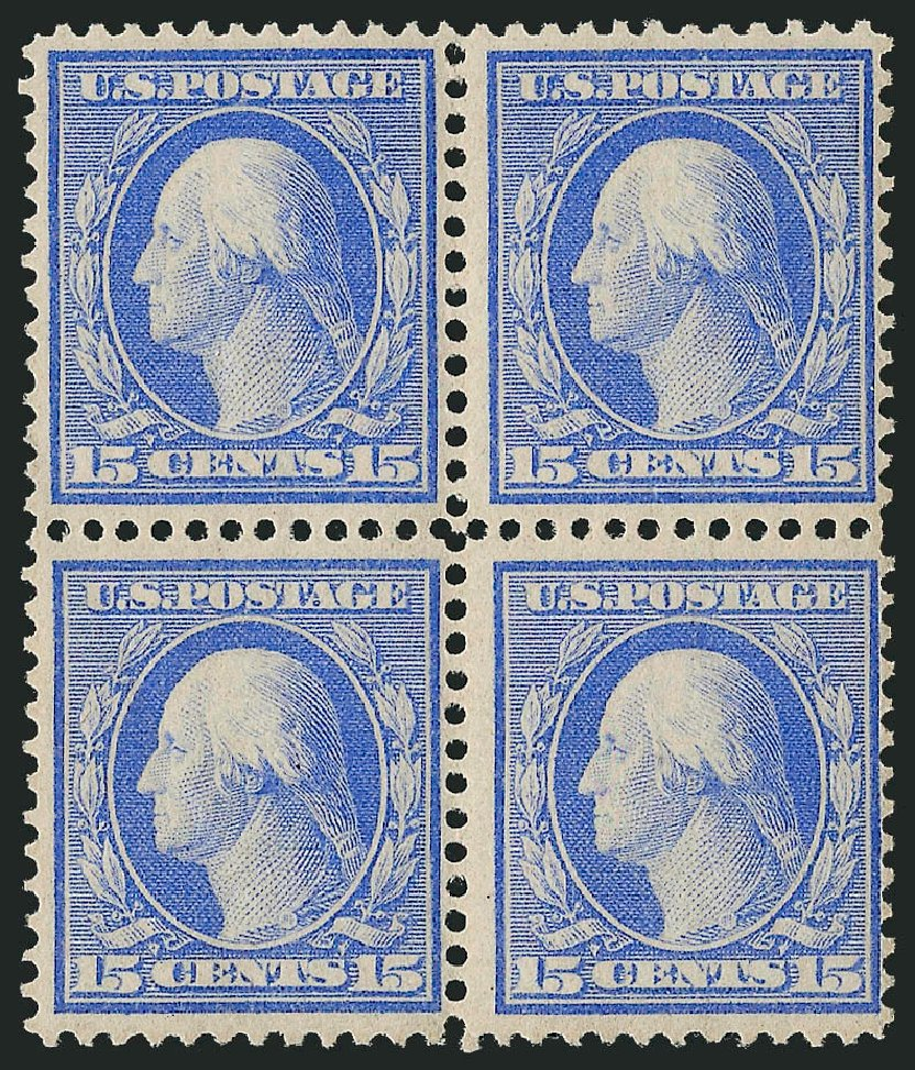 Cost of US Stamp Scott Catalog # 366 - 1909 15c Washington Bluish Paper. Robert Siegel Auction Galleries, Apr 2015, Sale 1096, Lot 615