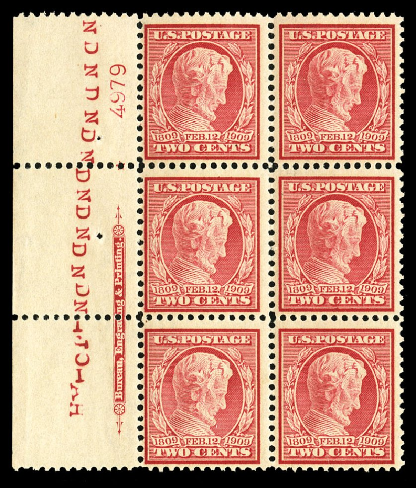 Values of US Stamps Scott # 369: 2c 1909 Lincoln Bluish Paper. Cherrystone Auctions, Jul 2015, Sale 201507, Lot 2137