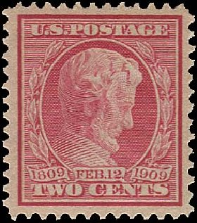 Cost of US Stamps Scott Cat. #369: 1909 2c Lincoln Bluish Paper. Regency-Superior, Aug 2015, Sale 112, Lot 759