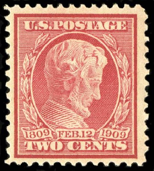 Costs of US Stamp Scott 369: 1909 2c Lincoln Bluish Paper. Spink Shreves Galleries, Jul 2015, Sale 151, Lot 269