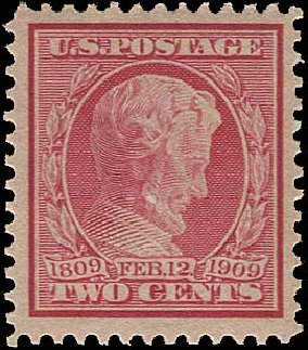 Prices of US Stamps Scott Cat. #369: 2c 1909 Lincoln Bluish Paper. Regency-Superior, Aug 2015, Sale 112, Lot 760