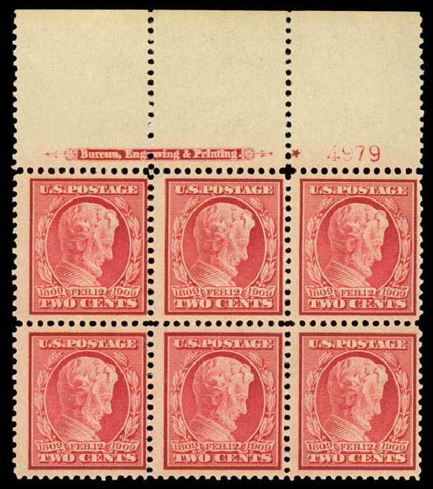Prices of US Stamps Scott Catalogue # 369 - 1909 2c Lincoln Bluish Paper. Daniel Kelleher Auctions, Aug 2015, Sale 672, Lot 2675