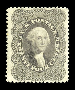 US Stamps Value Scott #37 - 1860 24c Washington. Cherrystone Auctions, Jul 2015, Sale 201507, Lot 2030