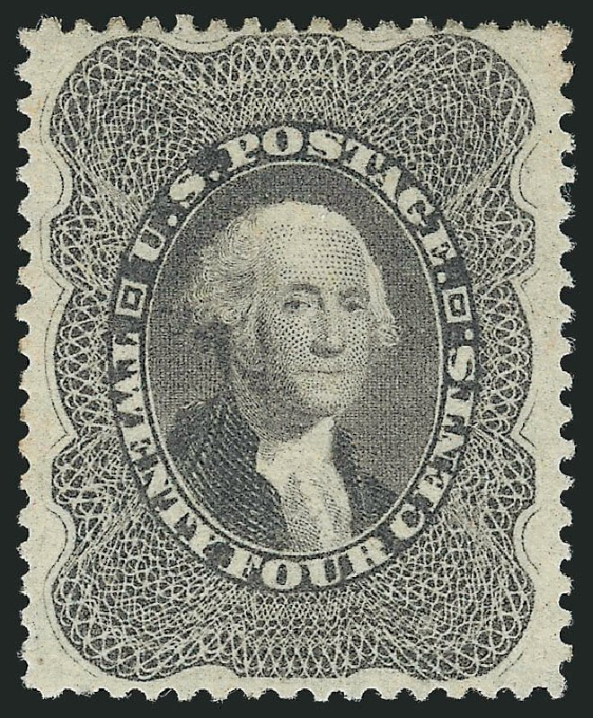 Costs of US Stamps Scott Catalog 37 - 24c 1860 Washington. Robert Siegel Auction Galleries, Jun 2015, Sale 1100, Lot 4