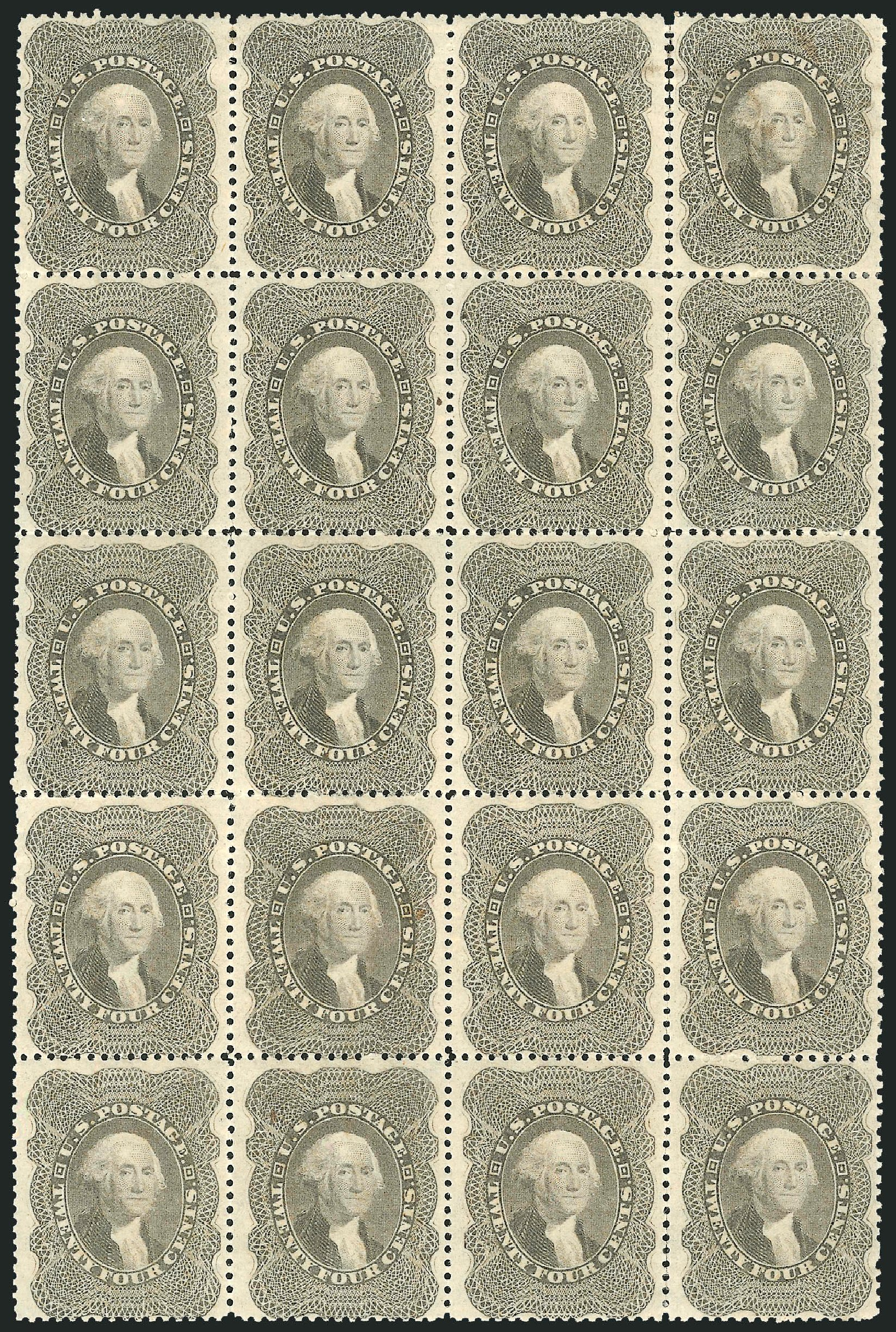 US Stamps Price Scott Cat. # 37 - 24c 1860 Washington. Robert Siegel Auction Galleries, Jun 2015, Sale 1100, Lot 5