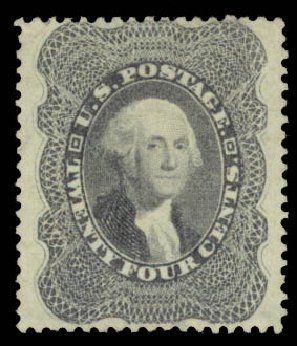Price of US Stamps Scott #37 - 1860 24c Washington. Daniel Kelleher Auctions, May 2015, Sale 669, Lot 2472