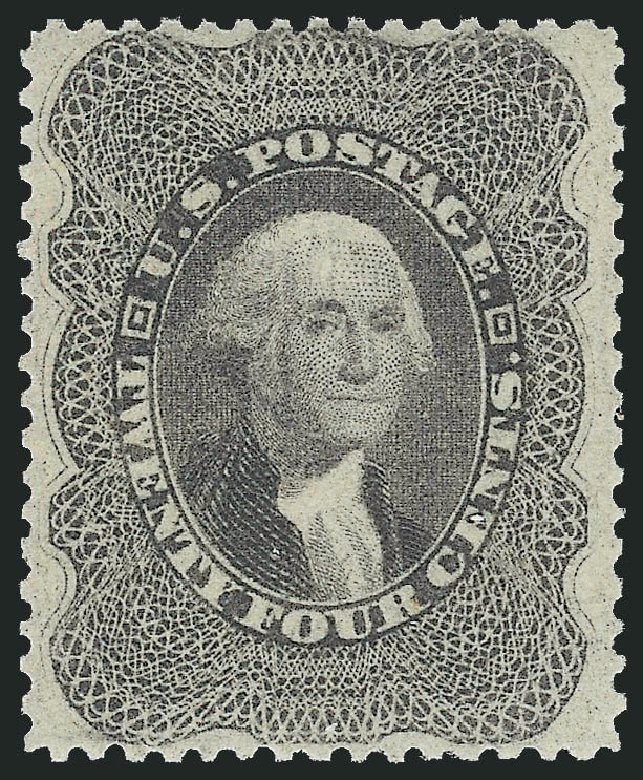 Value of US Stamps Scott Cat. #37: 1860 24c Washington. Robert Siegel Auction Galleries, Jun 2015, Sale 1100, Lot 3