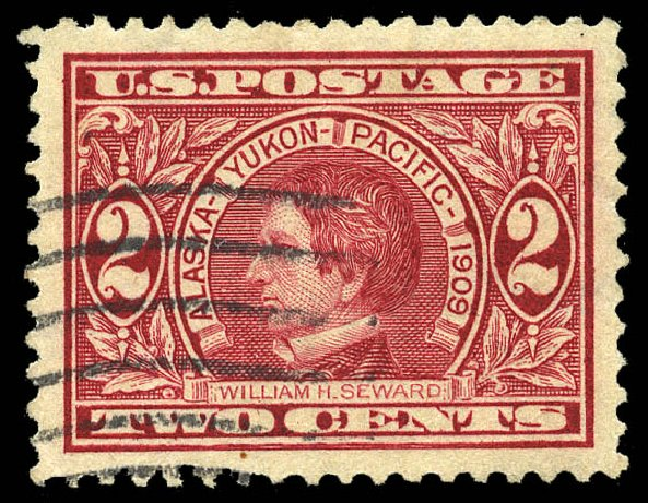 Values of US Stamp Scott Catalog #370 - 1909 2c Alaska-Yukon Exposition. Matthew Bennett International, May 2014, Sale 350, Lot 527