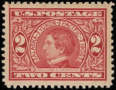 US Stamp Value Scott # 370: 2c 1909 Alaska-Yukon Exposition. H.R. Harmer, Oct 2014, Sale 3006, Lot 1337
