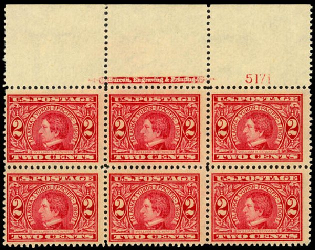 Costs of US Stamps Scott Catalog 370 - 1909 2c Alaska-Yukon Exposition. Daniel Kelleher Auctions, Jan 2015, Sale 663, Lot 1717