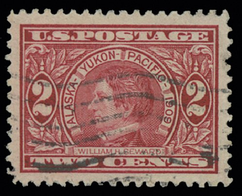 US Stamp Price Scott Catalog 370 - 1909 2c Alaska-Yukon Exposition. H.R. Harmer, May 2014, Sale 3005, Lot 1260