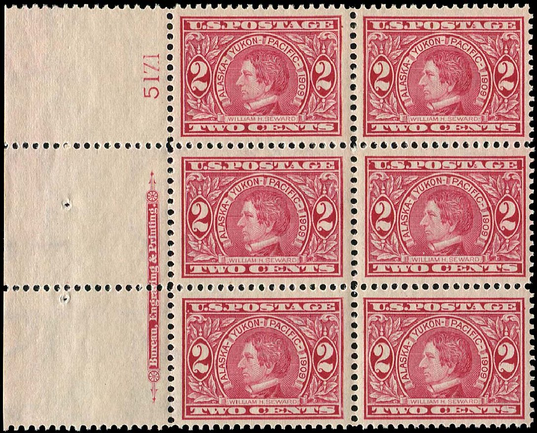 Cost of US Stamps Scott Cat. 370 - 1909 2c Alaska-Yukon Exposition. Regency-Superior, Aug 2015, Sale 112, Lot 1331