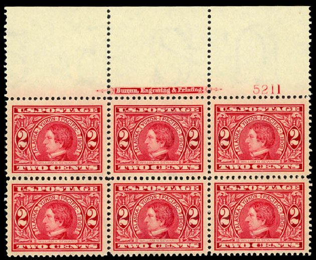 Costs of US Stamps Scott Catalog #370: 2c 1909 Alaska-Yukon Exposition. Daniel Kelleher Auctions, May 2014, Sale 653, Lot 2414