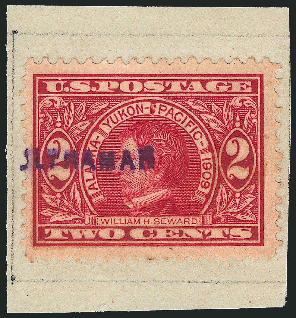 US Stamp Values Scott Catalog #370 - 1909 2c Alaska-Yukon Exposition. Robert Siegel Auction Galleries, Dec 2014, Sale 1090, Lot 1072