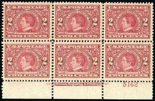 US Stamps Price Scott Catalogue #370: 1909 2c Alaska-Yukon Exposition. Spink Shreves Galleries, Jul 2015, Sale 151, Lot 272