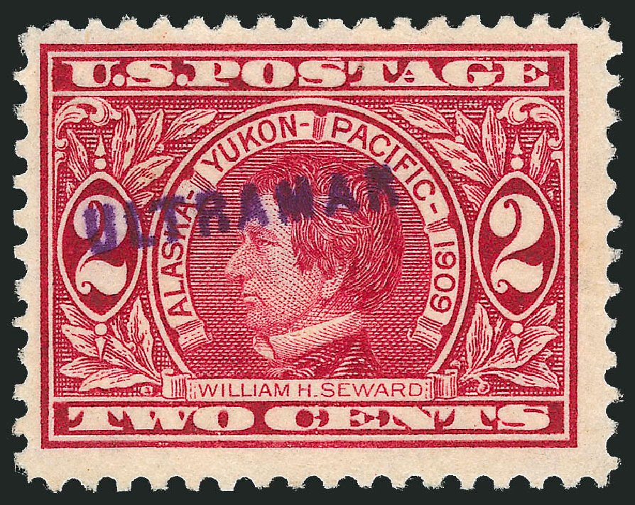 US Stamps Values Scott Catalog # 370: 2c 1909 Alaska-Yukon Exposition. Robert Siegel Auction Galleries, Dec 2014, Sale 1090, Lot 1073
