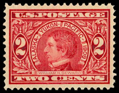 US Stamp Prices Scott Catalogue 370: 1909 2c Alaska-Yukon Exposition. Daniel Kelleher Auctions, May 2014, Sale 653, Lot 2226