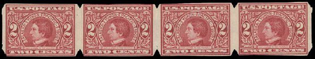 Costs of US Stamp Scott Catalogue #371: 2c 1909 Alaska-Yukon Exposition Imperf. Daniel Kelleher Auctions, Aug 2015, Sale 672, Lot 2681