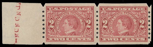 Costs of US Stamp Scott Catalog #371 - 1909 2c Alaska-Yukon Exposition Imperf. Daniel Kelleher Auctions, Aug 2015, Sale 672, Lot 2685