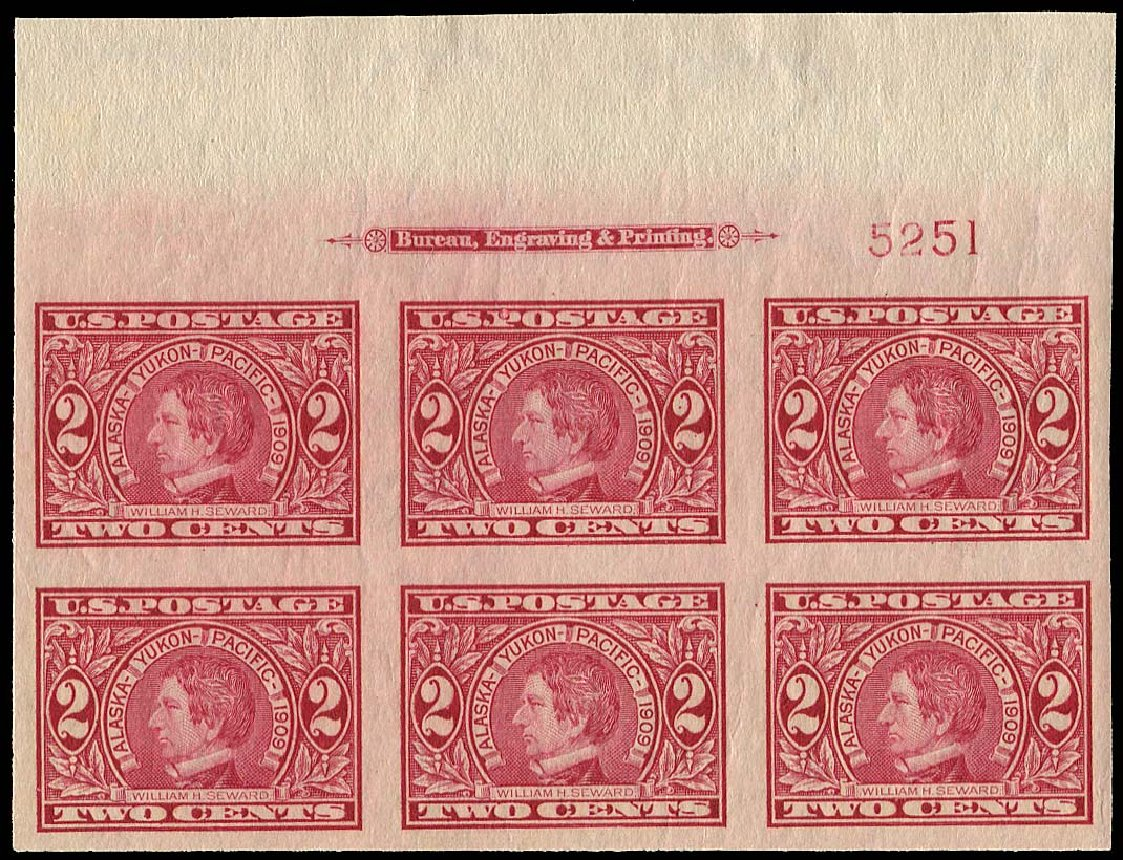US Stamp Prices Scott Catalogue 371 - 2c 1909 Alaska-Yukon Exposition Imperf. Regency-Superior, Aug 2015, Sale 112, Lot 1332