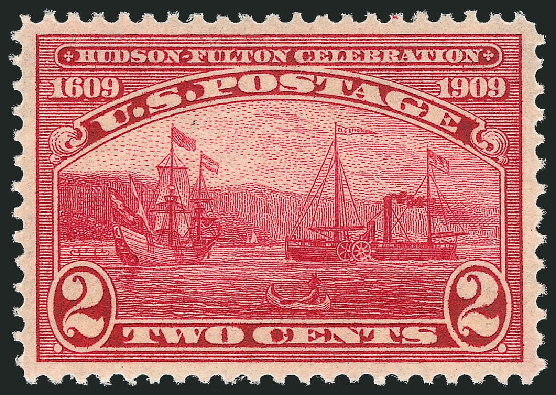 Cost of US Stamps Scott #372 - 2c 1909 Hudson-Fulton. Robert Siegel Auction Galleries, Dec 2013, Sale 1062, Lot 549