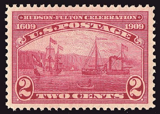 Values of US Stamps Scott Catalog # 372 - 1909 2c Hudson-Fulton. Spink Shreves Galleries, Jan 2014, Sale 146, Lot 380
