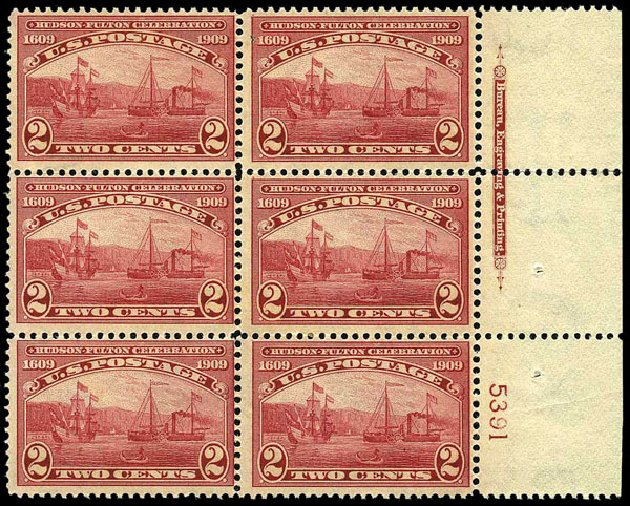 US Stamp Prices Scott 372: 1909 2c Hudson-Fulton. Harmer-Schau Auction Galleries, May 2015, Sale 105, Lot 164