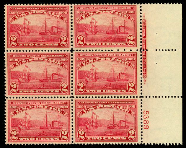 Prices of US Stamps Scott #372: 1909 2c Hudson-Fulton. Daniel Kelleher Auctions, Jan 2015, Sale 663, Lot 1725