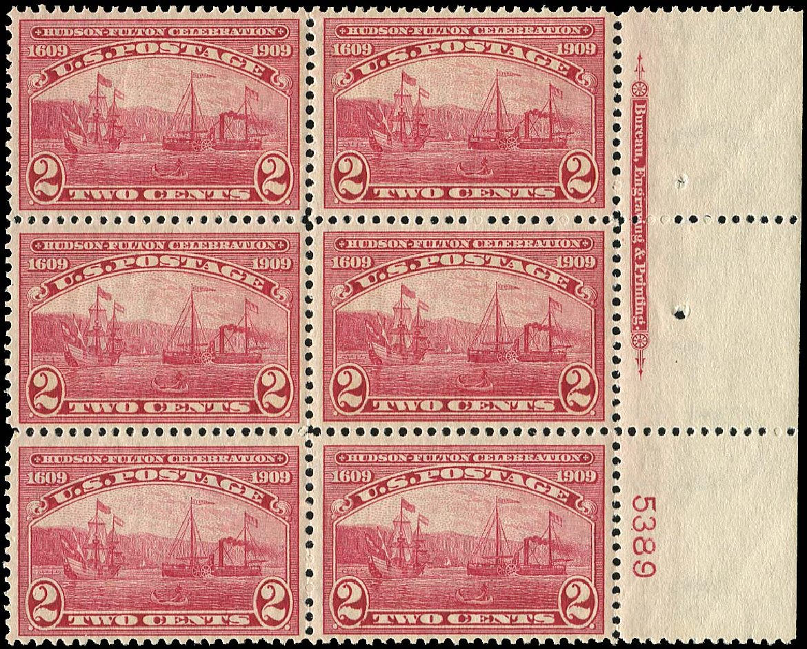 Value of US Stamp Scott Catalogue 372: 1909 2c Hudson-Fulton. Regency-Superior, Nov 2014, Sale 108, Lot 1312