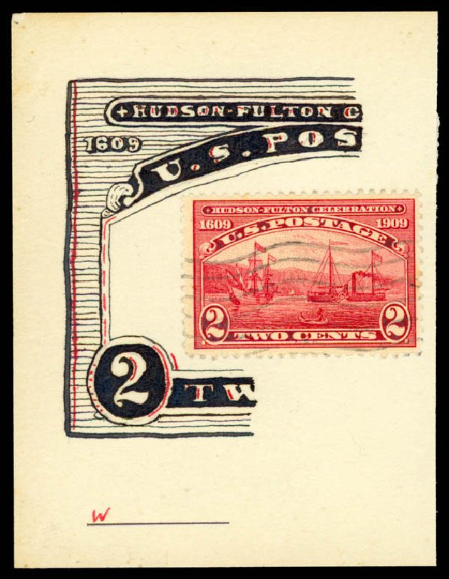US Stamps Value Scott 372 - 1909 2c Hudson-Fulton. Daniel Kelleher Auctions, May 2015, Sale 669, Lot 2933