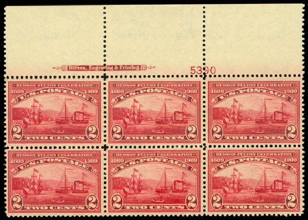 US Stamps Price Scott Cat. # 372 - 2c 1909 Hudson-Fulton. Daniel Kelleher Auctions, May 2014, Sale 653, Lot 2416