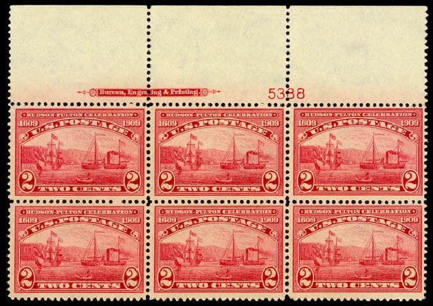 US Stamp Value Scott # 372: 2c 1909 Hudson-Fulton. Daniel Kelleher Auctions, Jan 2015, Sale 663, Lot 1726