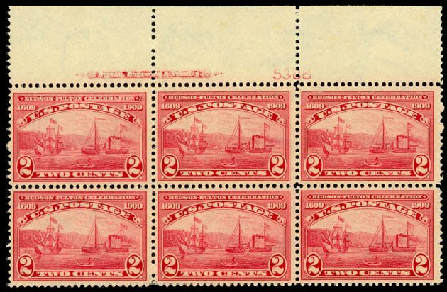 Prices of US Stamps Scott Catalogue #372 - 2c 1909 Hudson-Fulton. Daniel Kelleher Auctions, Aug 2015, Sale 672, Lot 2686