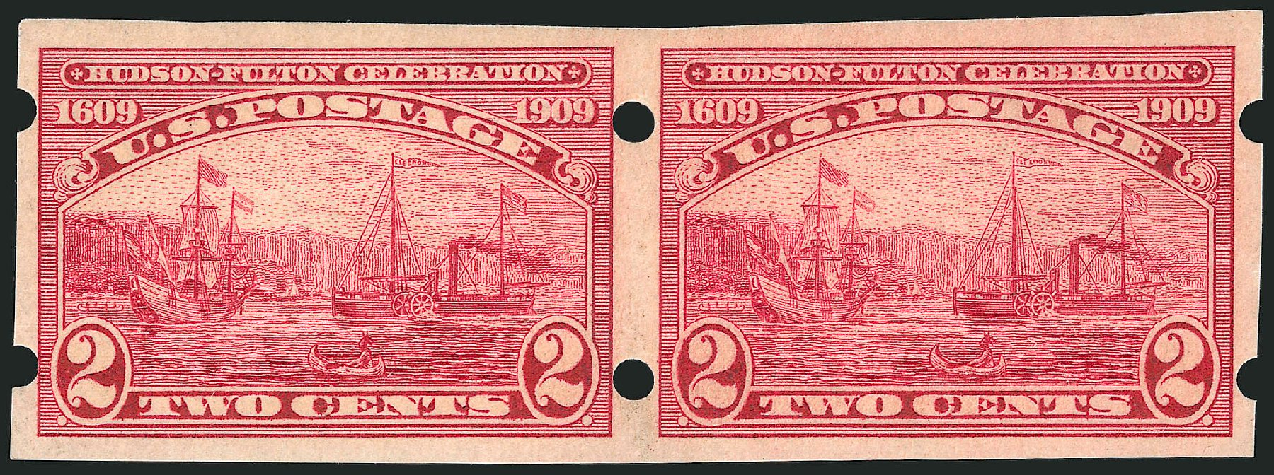 Values of US Stamps Scott Catalog #373: 2c 1909 Hudson-Fulton Imperf. Robert Siegel Auction Galleries, Oct 2014, Sale 1082, Lot 447
