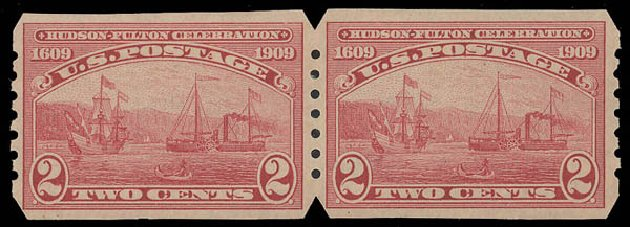 Prices of US Stamp Scott Catalog 373: 1909 2c Hudson-Fulton Imperf. Daniel Kelleher Auctions, Aug 2015, Sale 672, Lot 2689
