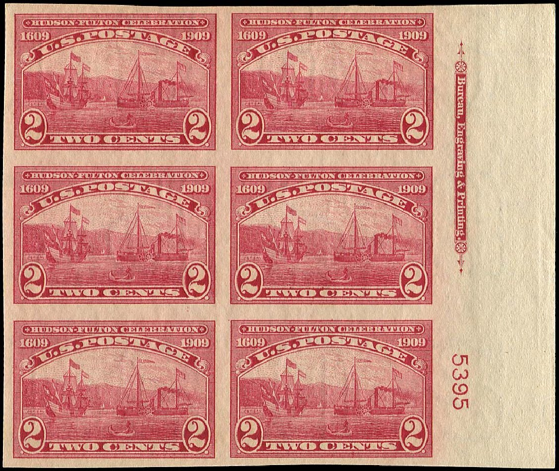 Cost of US Stamps Scott 373: 1909 2c Hudson-Fulton Imperf. Regency-Superior, Nov 2014, Sale 108, Lot 1313